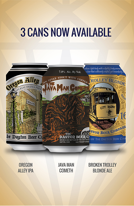 Dayton Beer three featured cans